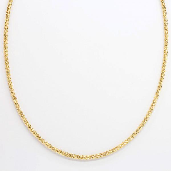 Damen Halskette Kette Collier Reif echt Silber 925 bicolor Länge 45 cm