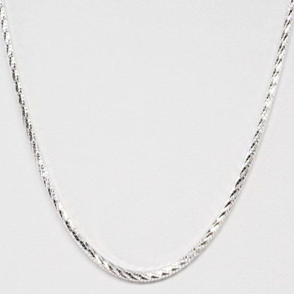 Damen Halskette Schlangen Kette Collier echt Silber 925 Länge 45 cm